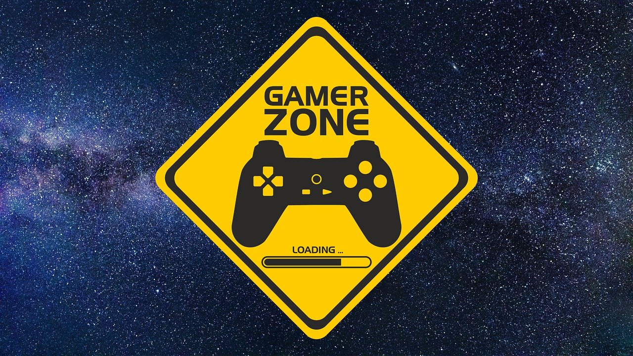 Panneau signalant zone gamer