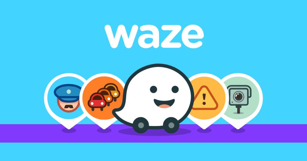 Waze application trajet voiture