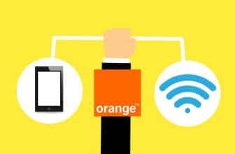 Design motion, représentant une main tenant une tablette et un icône wifi sur fond jaune pour Orange Livebox