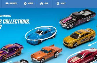 Page d'accueil du site, Hot Wheels voiture de course sur circuit